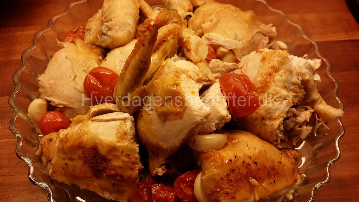Kylling i ovnen i gryden