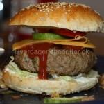 Piftet burger / bøf