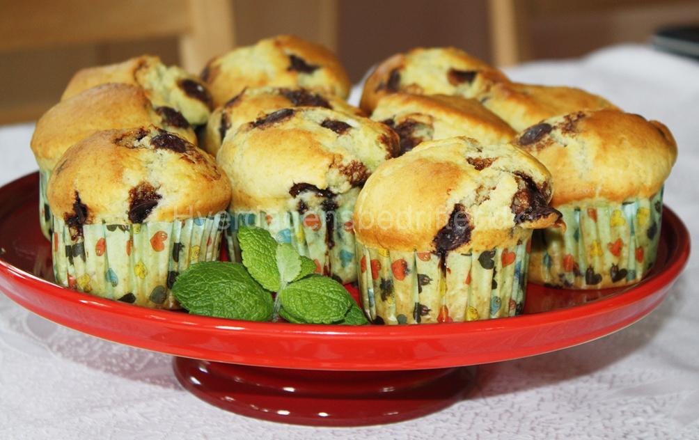 Pebermynte og chokolade muffins