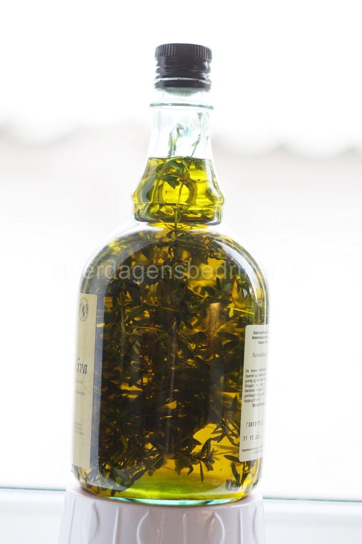 Olivenolie med chilitimian