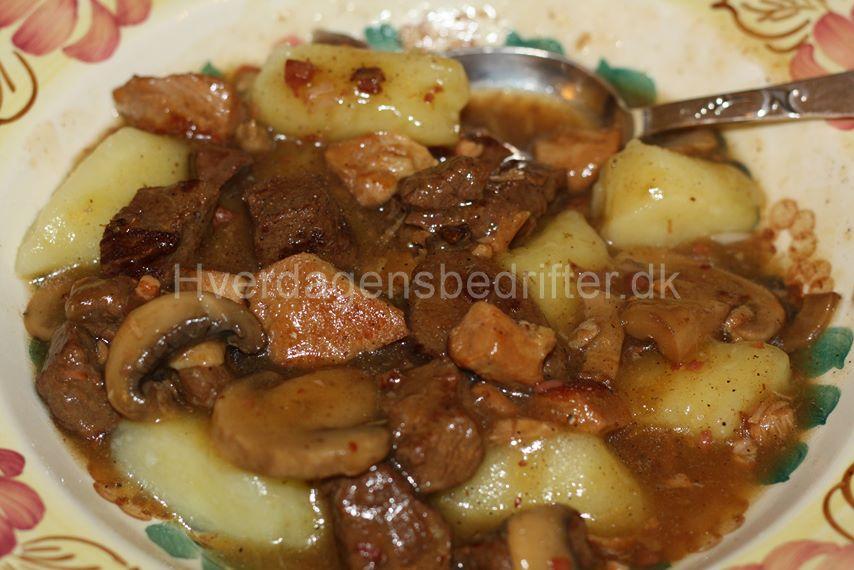 Gulasch med champignon