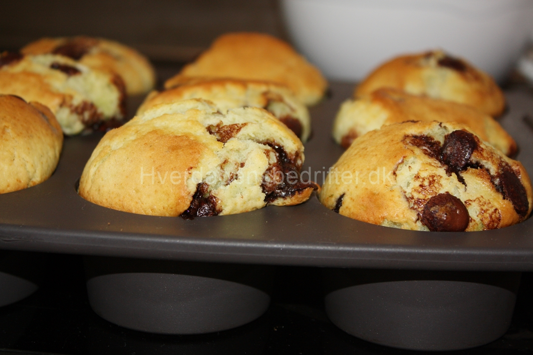Pebermynte chokolade muffins