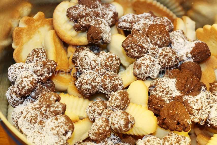Chokolade småkager med mandler